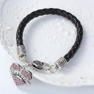 Jewelry - Diabetic Bracelet with Pink Rhinestones